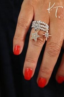 Kate Thornton Mixed Metal Crystal Star Stacking Rings