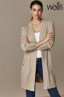Wallis Stone Wool Mix Longline Cardigan