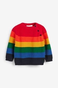 Bright Rainbow Stripe Knitted Jumper (0mths-2yrs)