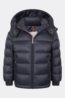 Boys Navy Down Padded New Gastonet Jacket