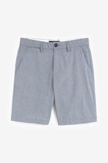Black/White Mini Gingham Check Chino Shorts