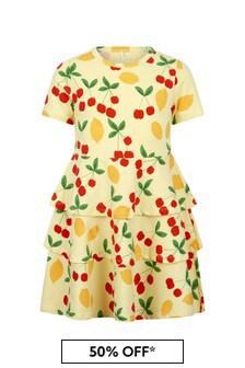 فستان قطن أصفر بناتي منMini Rodini