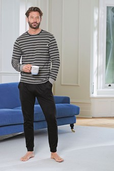 Black Stripe Pyjama Set