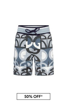 Dolce & Gabbana Boys Blue Cotton Shorts