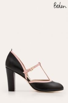 Boden Black Laurie T-Bar Heel Shoes