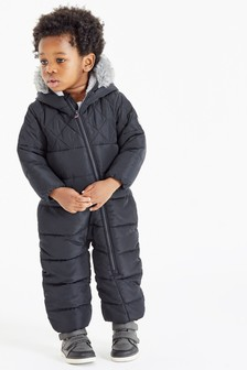 Navy Quilted Snowsuit (3mths-10yrs)