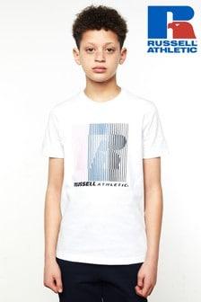 Russell Athletics Striped Logo T-Shirt