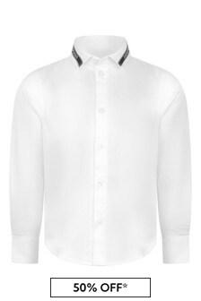 Boys Cotton Logo Tape Shirt