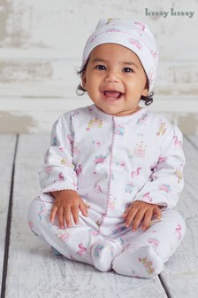 Kissy Kissy White Unicorn Castle Outfit Set