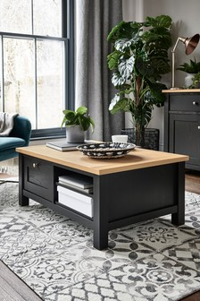 Black Malvern Storage Coffee Table