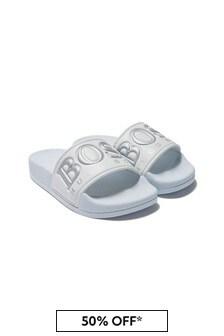Boss Kidswear Boys White Sandals