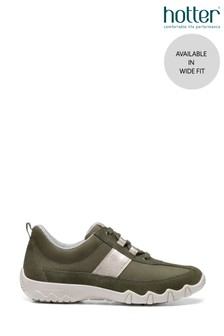 Hotter Green Leanne II Wide Fit Lace-Up Active Trainers