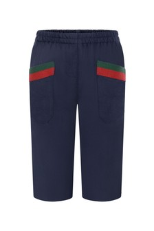 Baby Boys Navy Woollen Trousers