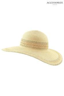 Accessorize Natural Sorento Floppy Hat