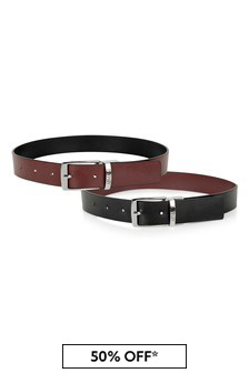 Boys Red/Black Reversible Belt