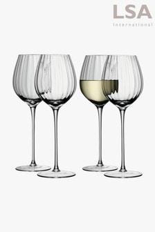 Set of 4 LSA International Aurelia White Wine Glasses