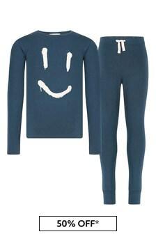 Boys Navy Cotton Pyjamas