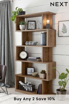 Oak Effect Bronx Tall Shelf