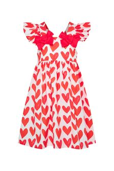 Patachou Girls Red Cotton Dress