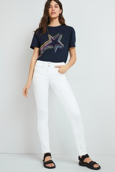 White Lift, Slim And Shape Slim Jeans