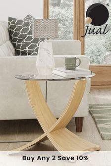 Siena Oak Lamp Table By Jual