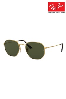 Ray-Ban® Gold Hexagon Sunglasses