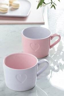 Set of 4 Hearts Mugs
