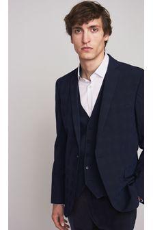 Navy Tailored Fit Motionflex Suit: Jacket