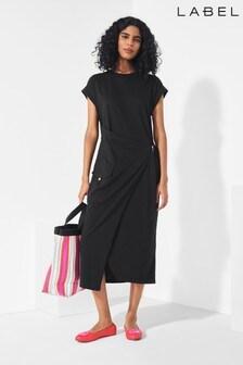Next/Mix Utility Jersey Wrap Dress