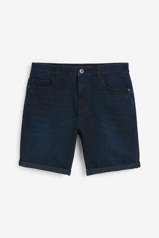 Indigo Slim Fit Denim Shorts