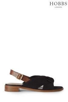 Hobbs Black Robbie Sandals