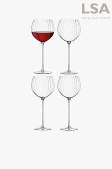 Set of 4 LSA International Aurelia Optic Gin Balloon Glasses