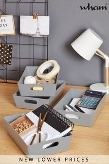 Set of 4 Medium Studio Rectangle Baskets by Wham