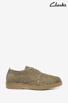 Clarks Olive Suede Desert London 2 Shoes