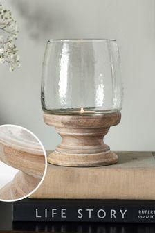 Small Turned Wood Hurricane Lantern