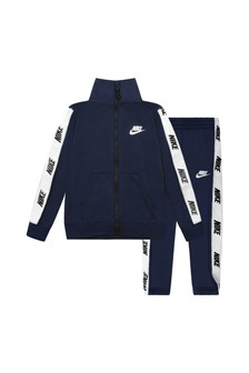 Baby Boys Navy Tricot Tracksuit
