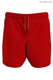 Tommy Hilfiger Red Th Established Drawstring Swim Shorts