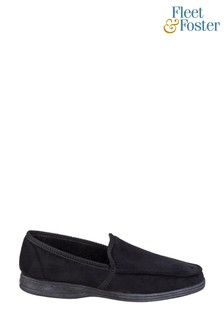 Fleet & Foster Black Dakis Slip-On Slippers