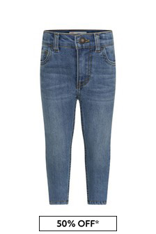 Baby Boys Blue Cotton Jeans