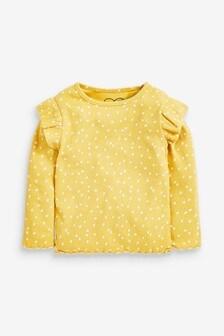 Ochre Dash Long Sleeve Rib T-Shirt (3mths-8yrs)