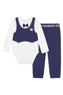 Guess Baby Boys White Cotton Set