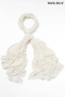 White Stuff White Foil Dreaming Away Scarf