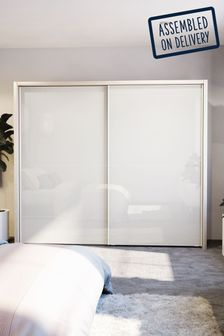 White Peyton Extra Large Sliding Wardrobe