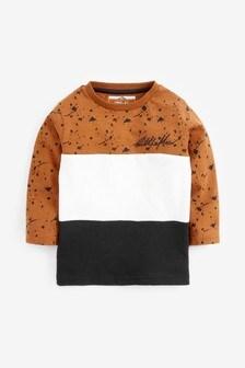 Multi Long Sleeve Colour Splat T-Shirt (3mths-7yrs)