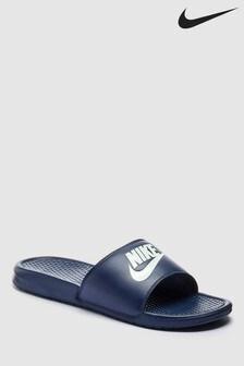 Mens Nike Navy Benassi Just Do It. Sliders