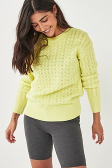 Lime Knitted Lounge Jumper