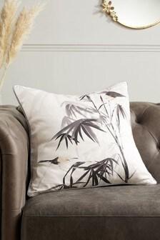Chinoiserie Bird Print Cushion