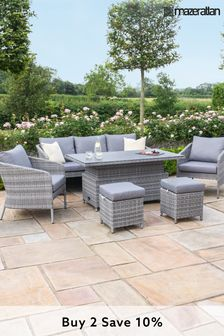 Santorini Sofa Dining Set With Rising Table By Maze Rattan