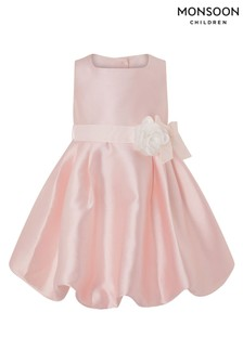 Monsoon Baby Pearl Puffball Pink Dress