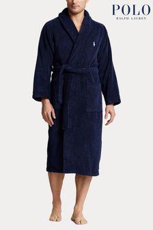 Polo Ralph Lauren Navy Fleece Dressing Gown